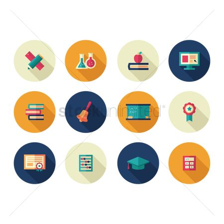 Supply : Set of education icons