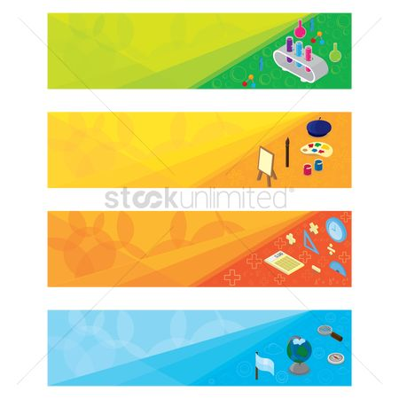 Palette : Set of educational banner