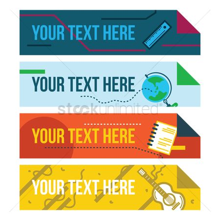 Notebooks : Set of educational banners