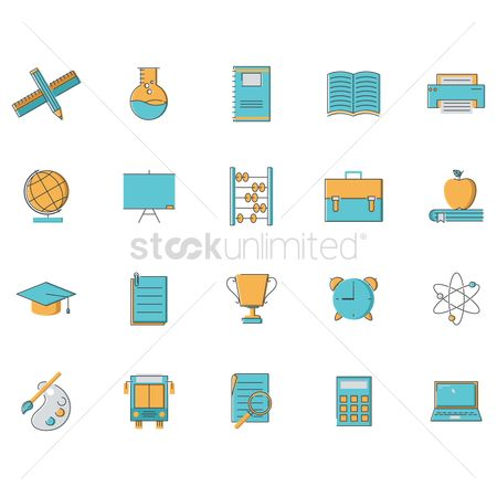 Copy space : Set of educational elements