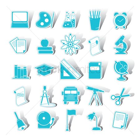 Palette : Set of educational icons