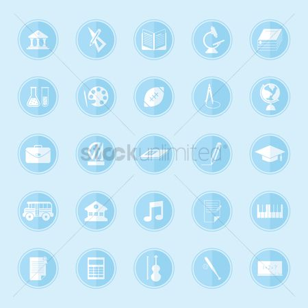Dairies : Set of educational icons