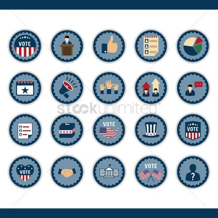 Votes : Set of election icons