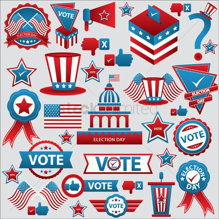 America : Set of election icons