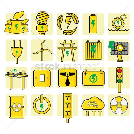 Navigator : Set of electric icons