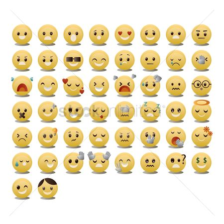 Boys : Set of emoticon icons