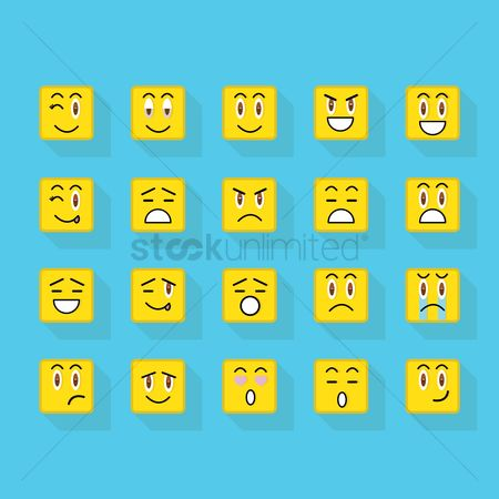 Expression : Set of emoticons