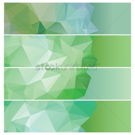 Gradients : Set of faceted banners