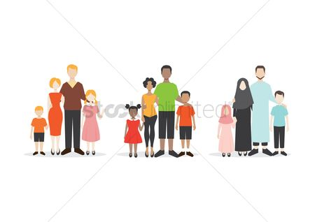 Posing : Set of family portrait icons