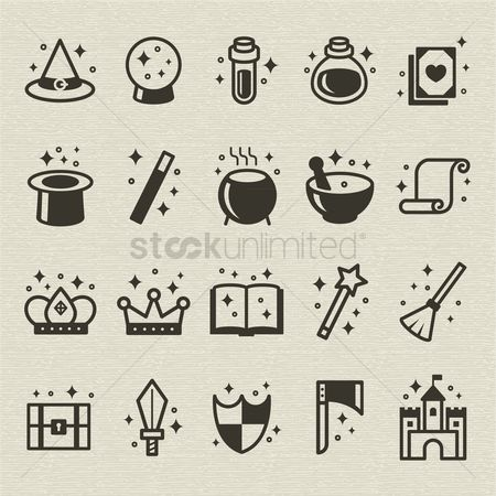 Fruit : Set of fantasy icons