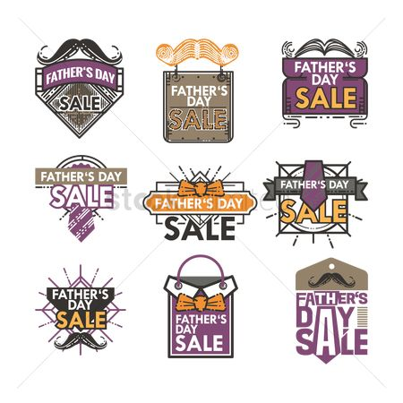 Thankful : Set of father s day sale icons