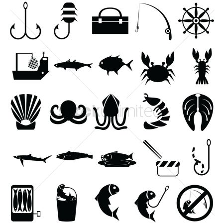 Crabs : Set of fishing icons