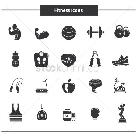 Footwear : Set of fitness icons