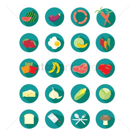 Bananas : Set of food icons