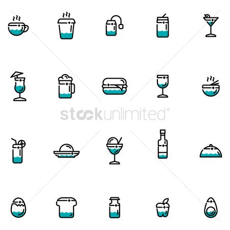 Beer mug : Set of food icons