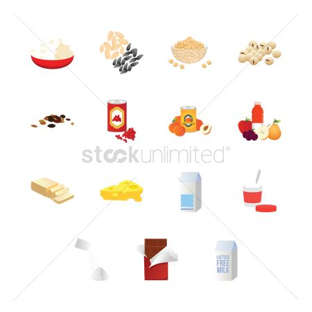 Jar : Set of food items