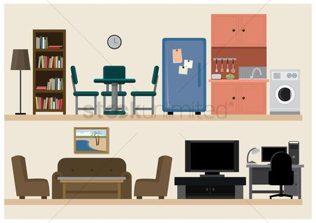Coffee : Set of furniture icons