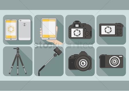 Photographers : Set of gadgets