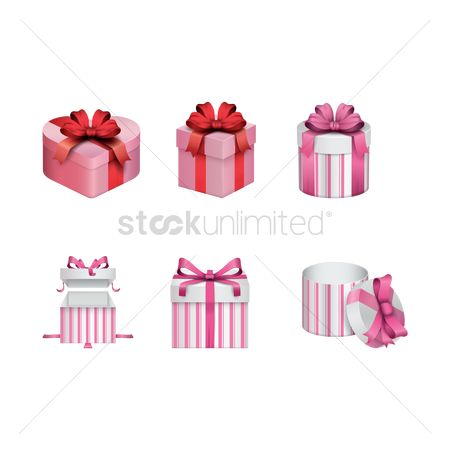 Valentine : Set of gift boxes
