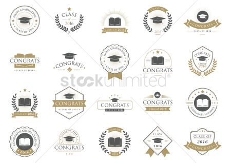 Insignia : Set of graduation labels