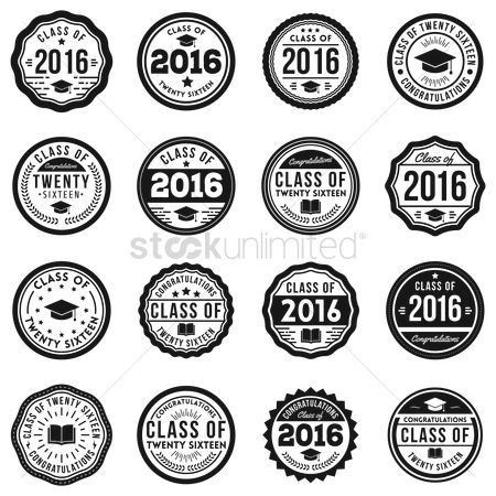 Laurel : Set of graduation stamps