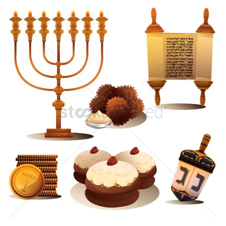 Traditions : Set of hanukkah items