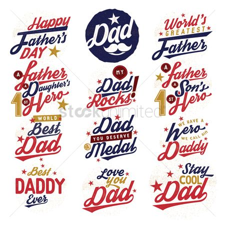 Medal : Set of happy father s day labels