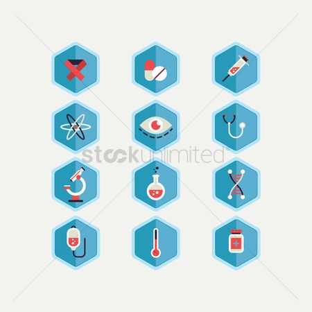 Medicines : Set of health icons