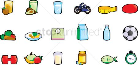 Bananas : Set of health icons