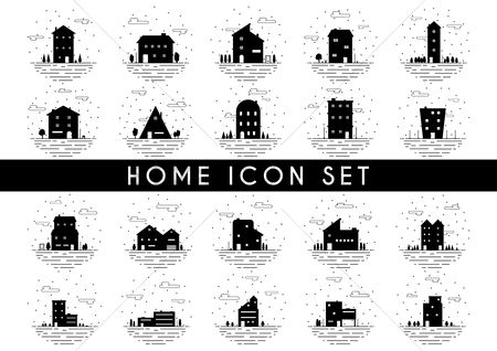 Architectures : Set of home icons
