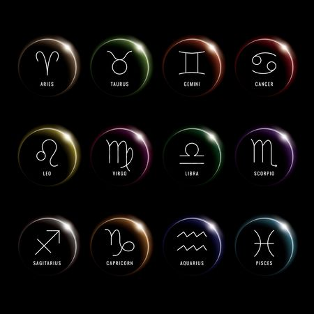 Horoscopes : Set of horoscope icons