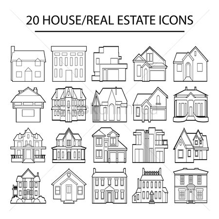 Building : Set of house icons