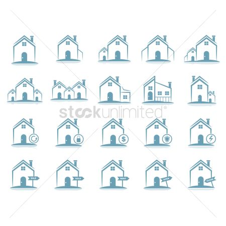 Sold : Set of house icons