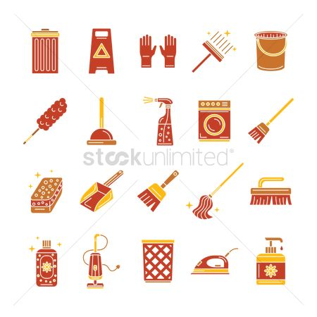 Broom : Set of household items