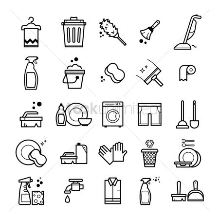 Washing machine : Set of household items