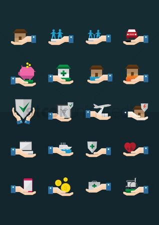 Electricity : Set of insurance icons