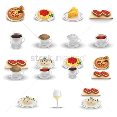 Coffee : Set of italian icons