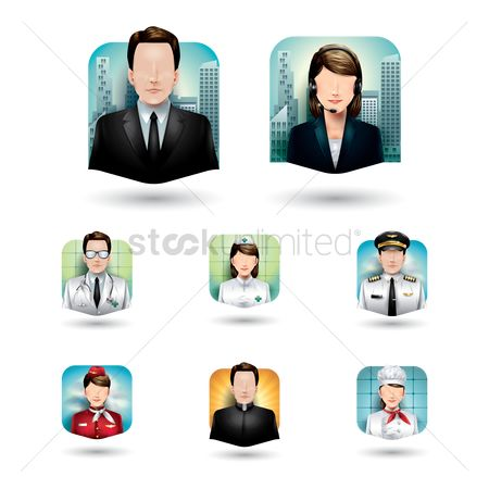 Doctor : Set of job icons