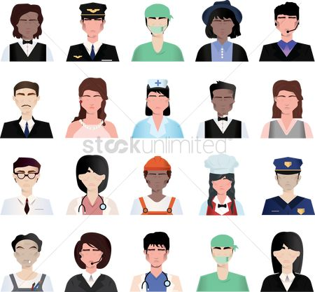 Surgeons : Set of job icons