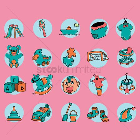 Play kids : Set of kids icon