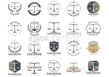 Laurel : Set of law firm design icons