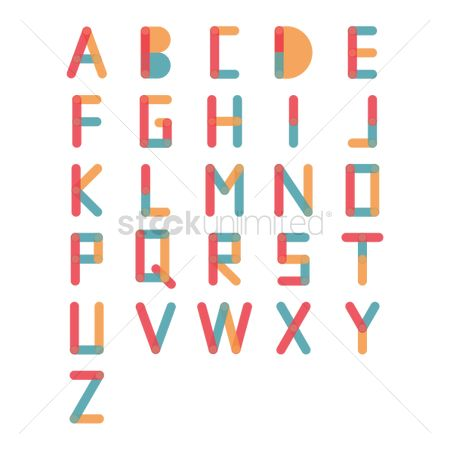 Fonts : Set of letter icons