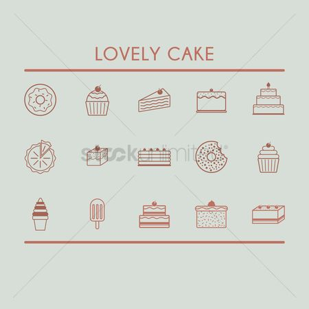 Cones : Set of lovely cakes