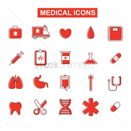 Dna : Set of medical icon