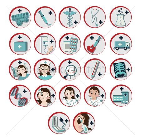 Health : Set of medical icons