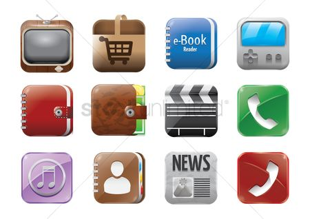 Online dating icon : Set of mobile application icons