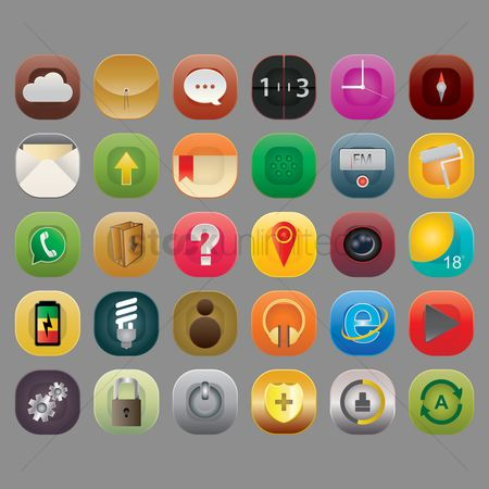 Cleaner : Set of mobile application icons