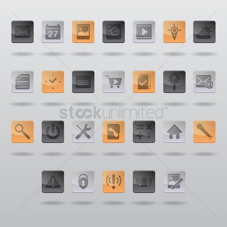 Wheel : Set of mobile icons