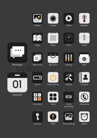 Mobiles : Set of mobile icons