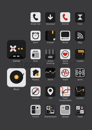Online dating icon : Set of mobile icons